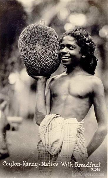 Native Boy with Breadfruit near Kandy, Ceylon 1930s