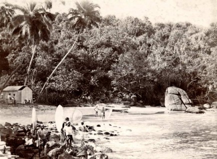 Fishermen with their nets at Galle, Ceylon 1903
