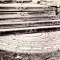 Moonstone & steps at Anuradhapura, Ceylon