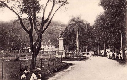 Formerly named Ward Street in Kandy now Dalada Veediya Kandy 1920s Ceylon