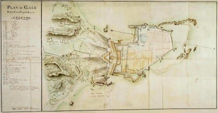 Map of the fort at Galle, Ceylon 1787