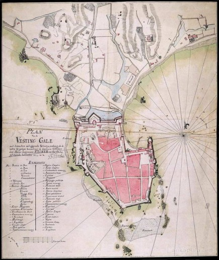 Map of the fort at Galle 1790