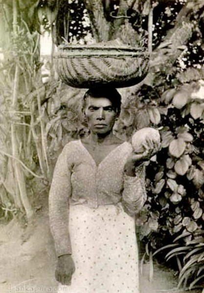 Native fruite seller Colombo Ceylon