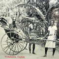 Rickshaws & drivers in Ceylon