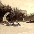 View of Mount Lavinia Hotel & Sea Shore, Ceylon Early 1900s