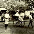 Ladies riding the rickshaws in Ceylon c.1880