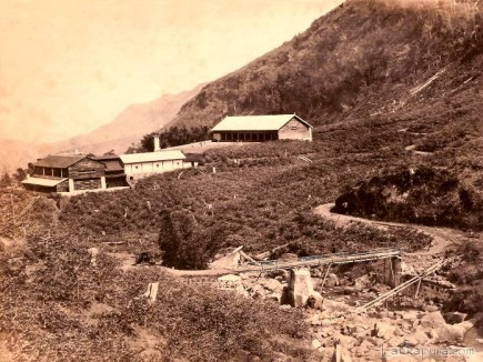 A tea plantation and the Factory in Ceylon 1860