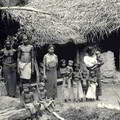 Native family and their dwelling, Ceylon