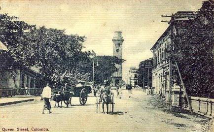 Queen Street scene Colombo, Ceylon 1905