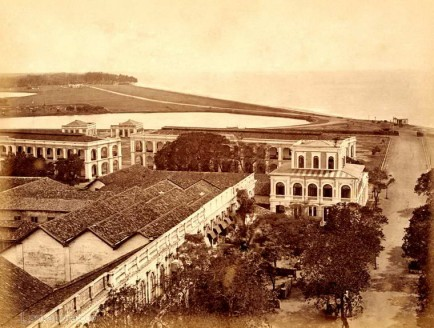Echelon Barracks & Galle Face, Colombo, Ceylon 1883