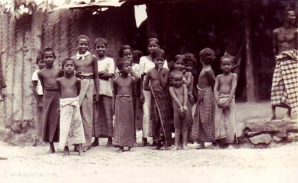 Sinhalese Children on Kandy Road
