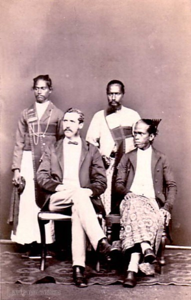 Government official with the local headman ca 1860