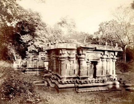 A ruined Buddhist temple at Polonnaruwa, Ceylon 1880 - 1890