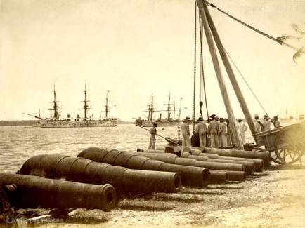British Navy cannons at Trincomalee harbour