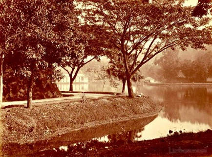View Across Kandy Lake, Ceylon