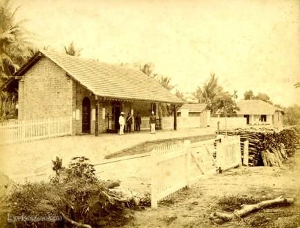 Pothuhera Railway Station, Kurunegala, Ceylon 1890's