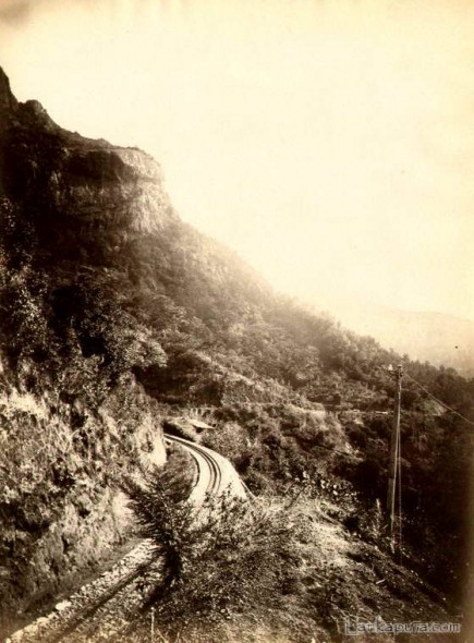 Railway tracks to Kandy, Ceylon c1890s