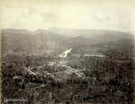 View kandy from hills 1880
