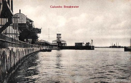 Colombo Harbour Break Water 1900-1910