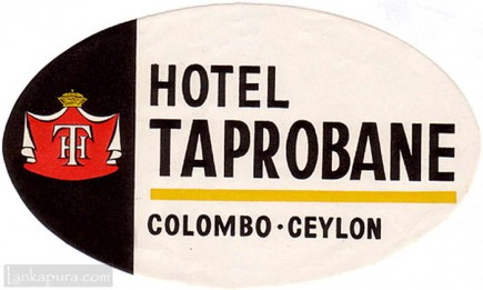 Hotel Taprobane luggage label