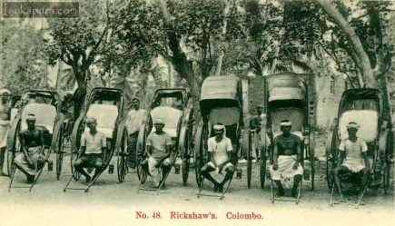Rickshaws or rickshas, Colombo