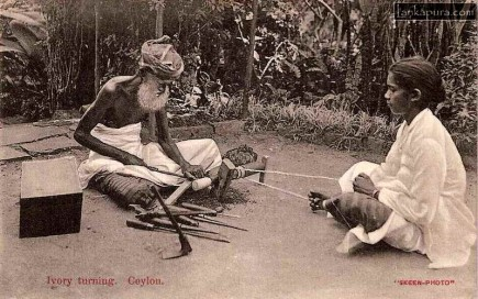 Ivory Turning in early 1900s Sri Lanka