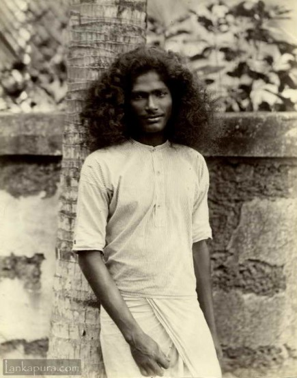 Portrait of native Sinhalese Man
