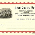 grand oriental hotel luggage label