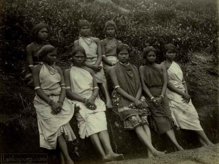 A Group of Indian Tamil Girls in Sri Lanka