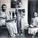 Buddhist Priest & Young Pupils of Ceylon
