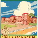 Galle face hotel luggage label advertising