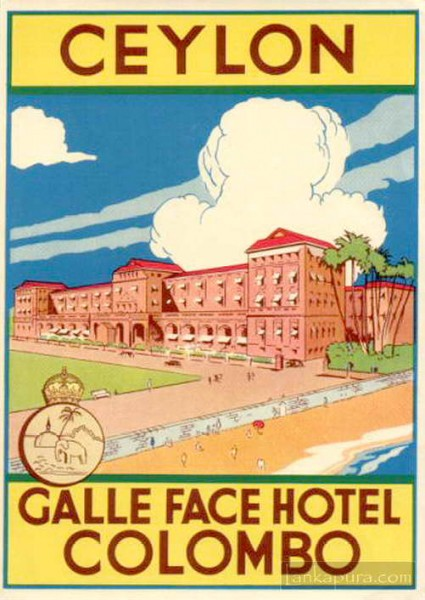 Galle face hotel luggage label