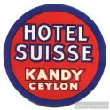 Hotel Suisse Kandy luggage label Sri Lanka