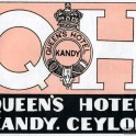 Queen's Hotel Kandy Luggage Label