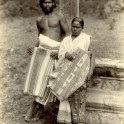 Sinhalese mat makers near Kandy 1880