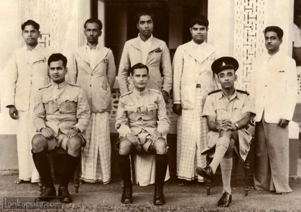 group of police men ceylon