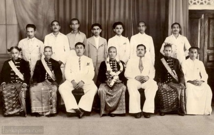 A Group of low country noblemen Ceylon