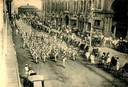 British Military Parade in Colombo