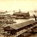 Colombo Harbor &  Breakwater Ceylon by Scowen 1890s