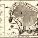 Antique map of Galle fort, Sri Lanka 1726