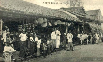 Street Scene, Native Shops